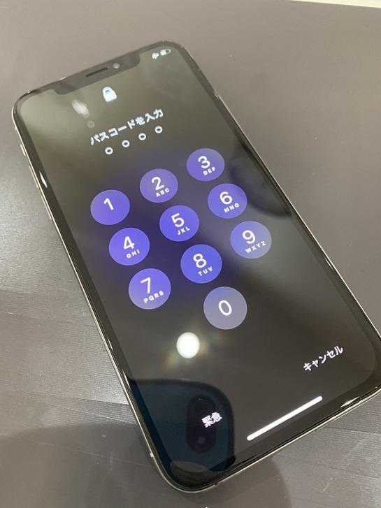iPhoneX ディスプレイ表示破損 修理後