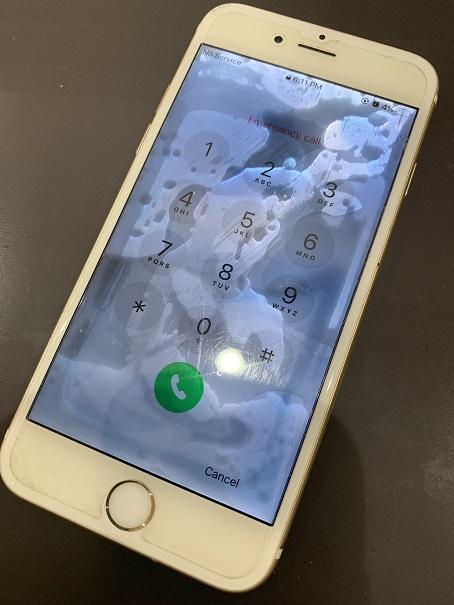 iPhone6s 水没 修理後 復旧
