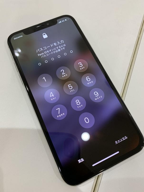 iPhoneX 画面 緑 修理後