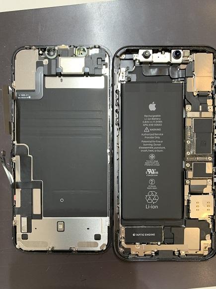 iPhone11 画面と筐体 分離完了