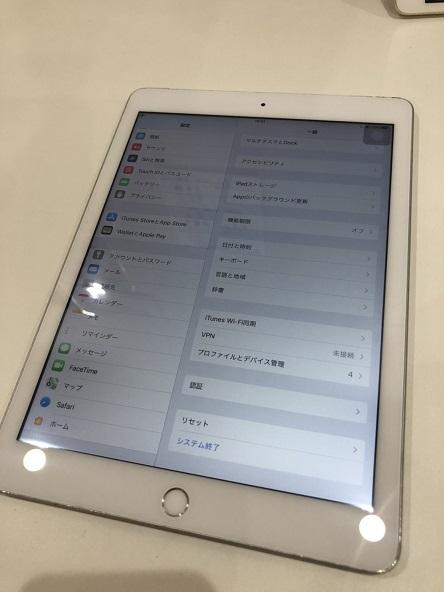 iPad5 ガラス割れ 修理後