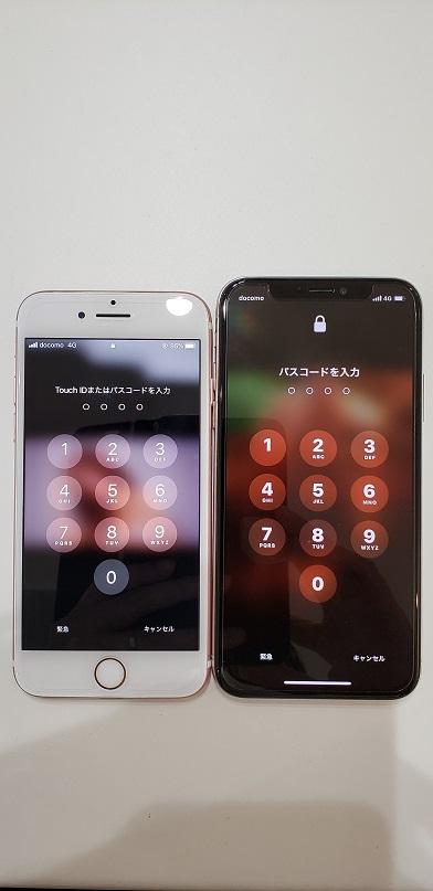 iPhoneX iPhone7 画面修理後