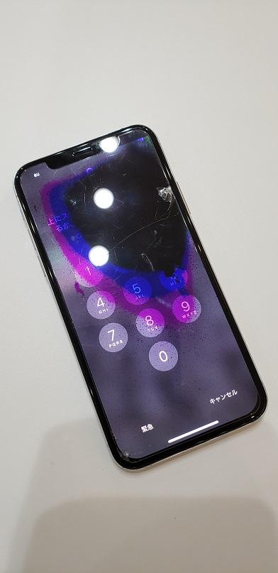 iPhoneX 液晶不良修理前