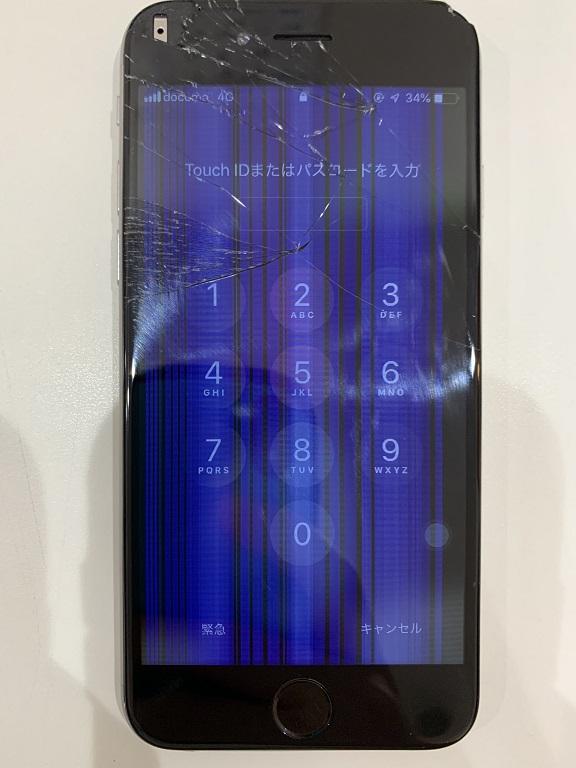 iPhone8 液晶 表示不良 タッチ不良 修理前