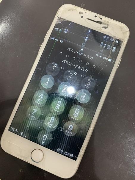 iPhone7 液晶表示不良 修理前