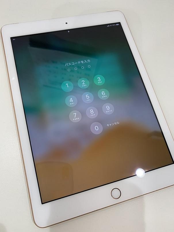 iPad6 ガラス割れ 修理後
