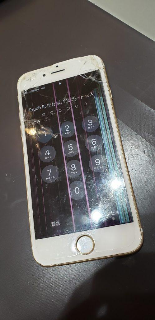 iPhone7 液晶画面修理前