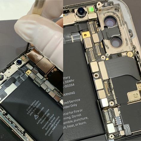 iPhoneX カメラ取り外し