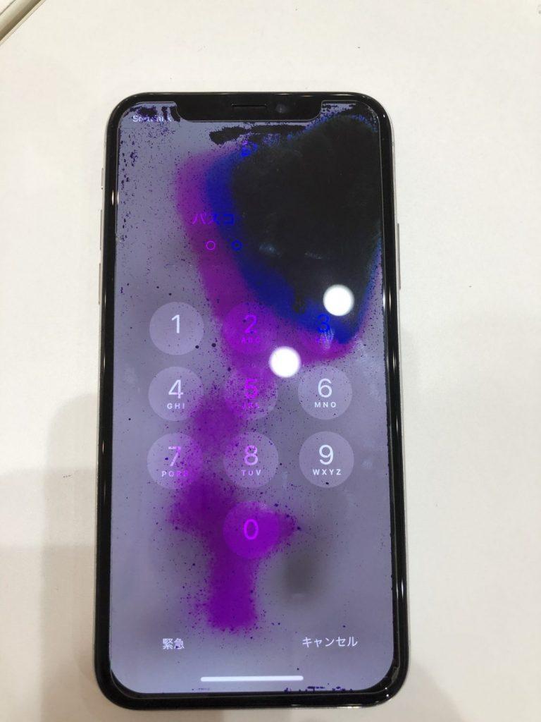 iPhoneXS 液漏れ 修理前