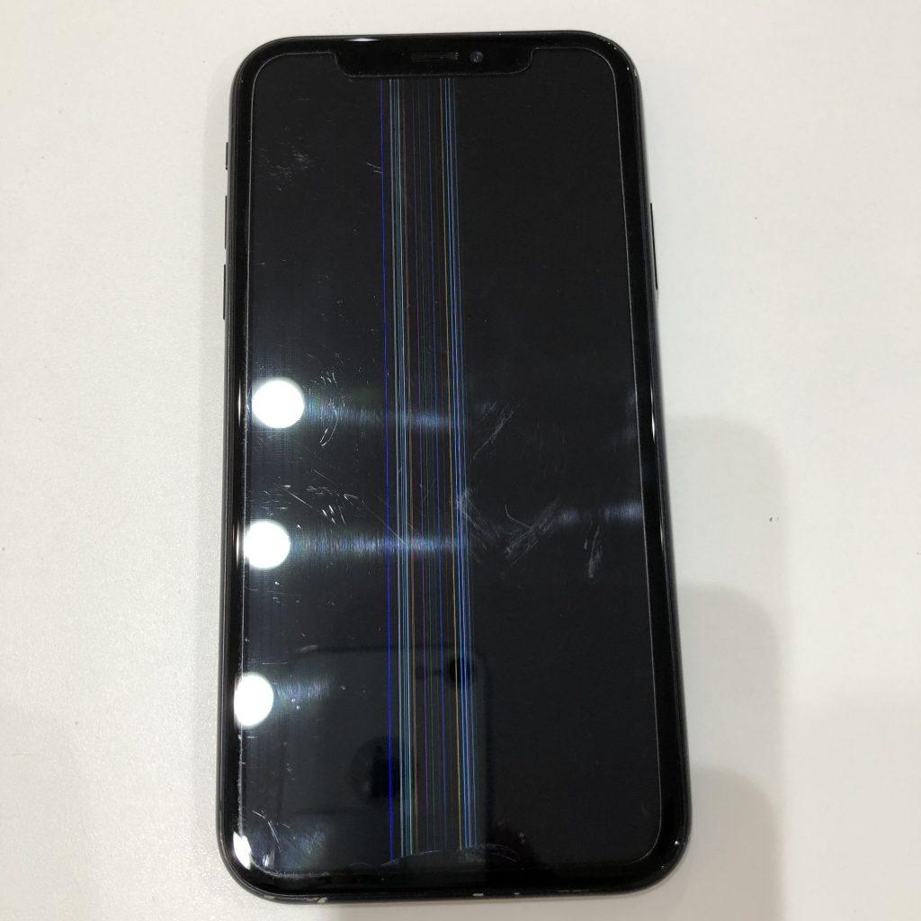 iPhoneX 表示不良 修理前