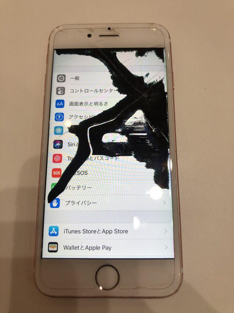 iPhone7 画面液漏れ 修理前