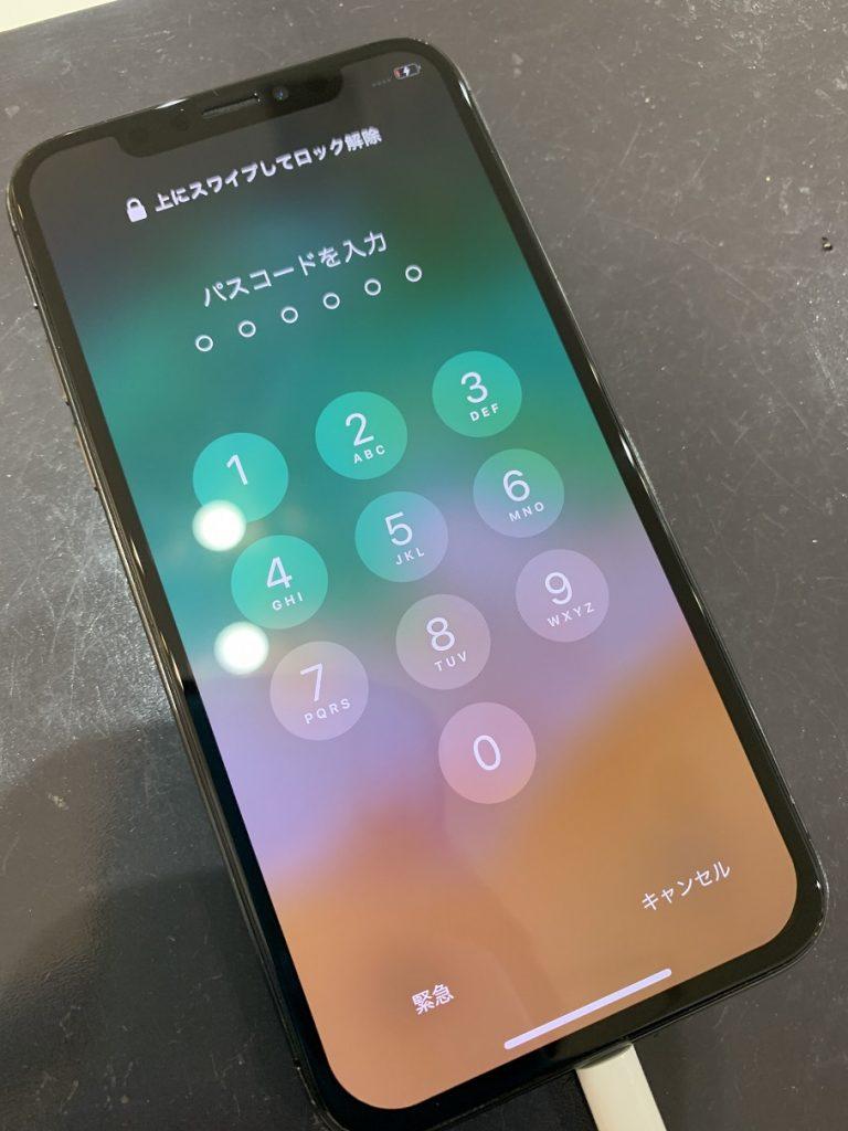 iPhoneX ディスプレイ 表示破損 修理後
