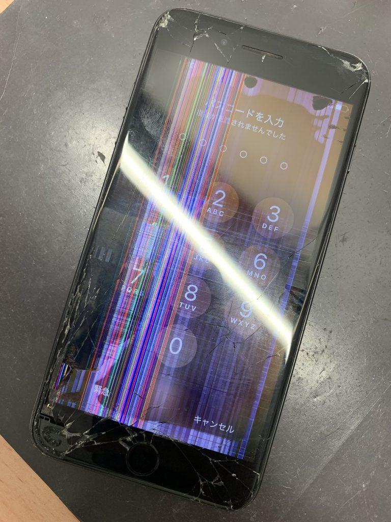 iPhone7Plus 液晶破損 修理前