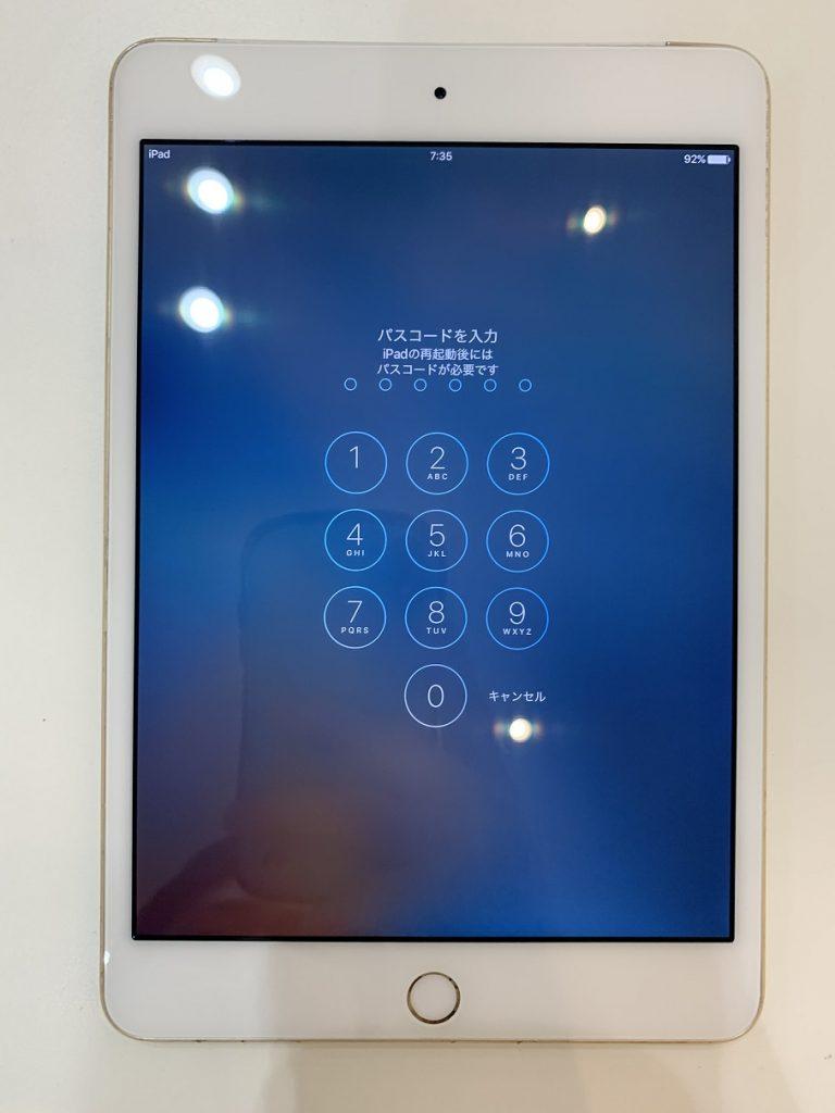 iPadmini4 液晶 ノイズ 修理後