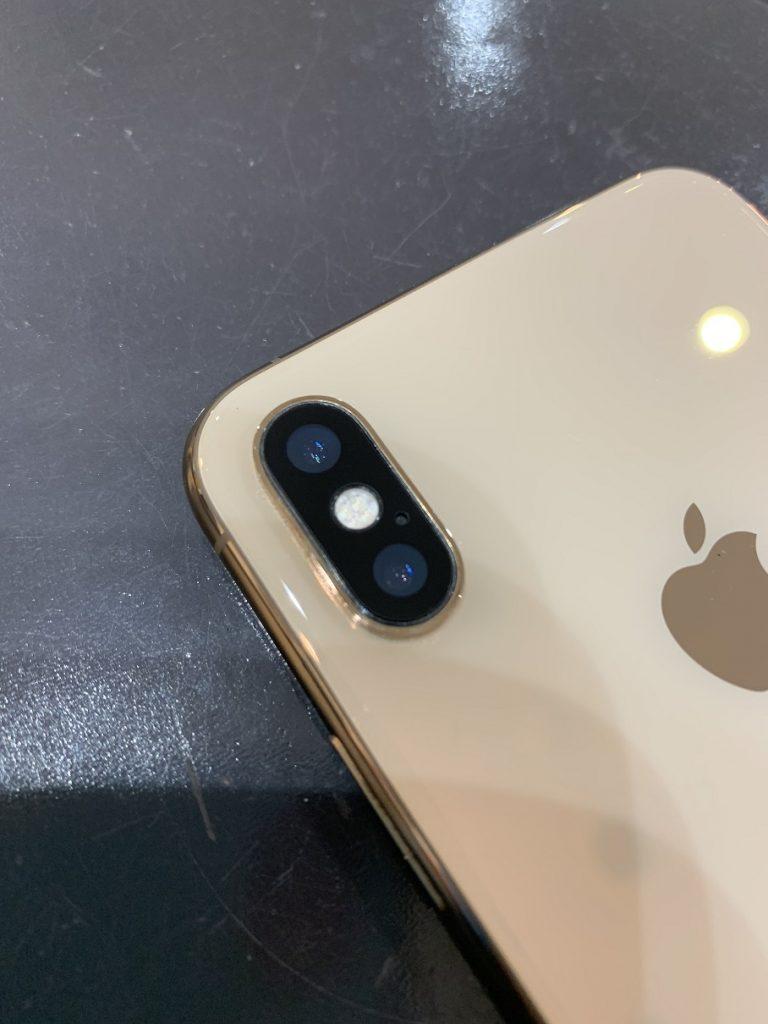 iPhoneXS カメラレンズ割れ 修理後