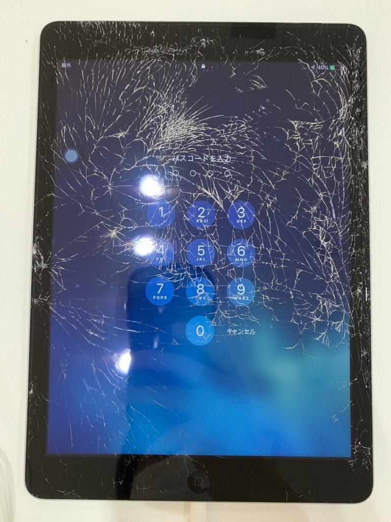 iPadAir ガラス割れ 修理前