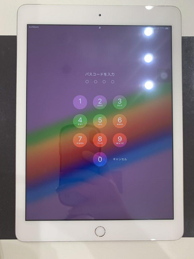 iPad6 ガラス割れ 修理後の状態