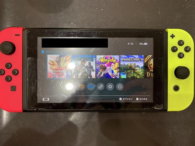 Nintendo Switch 修理後 ゲームカード読み込み