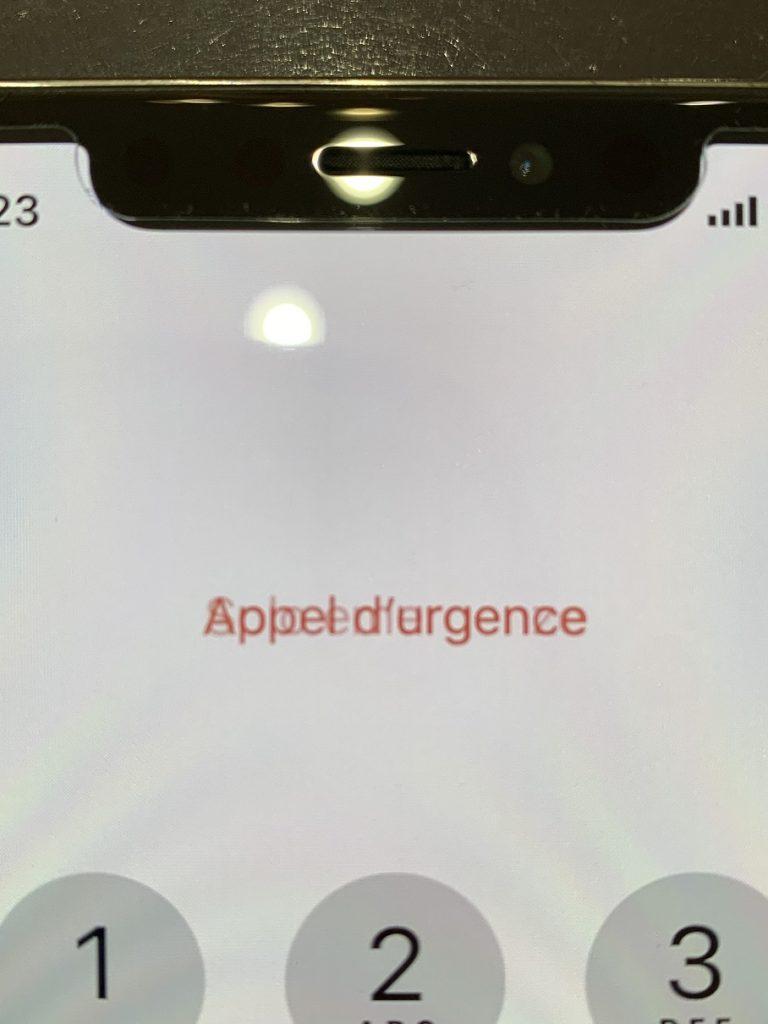 iPhoneX 画面割れ 有機EL表示不良 修理後