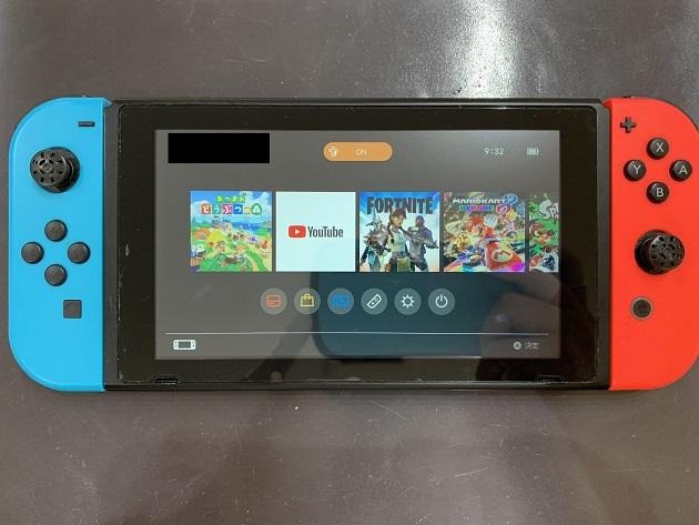 Nintendo Switch 液晶破損 修理後