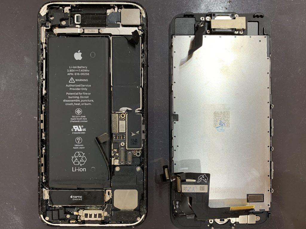 iPhone7 自己修理 失敗 真っ二つに