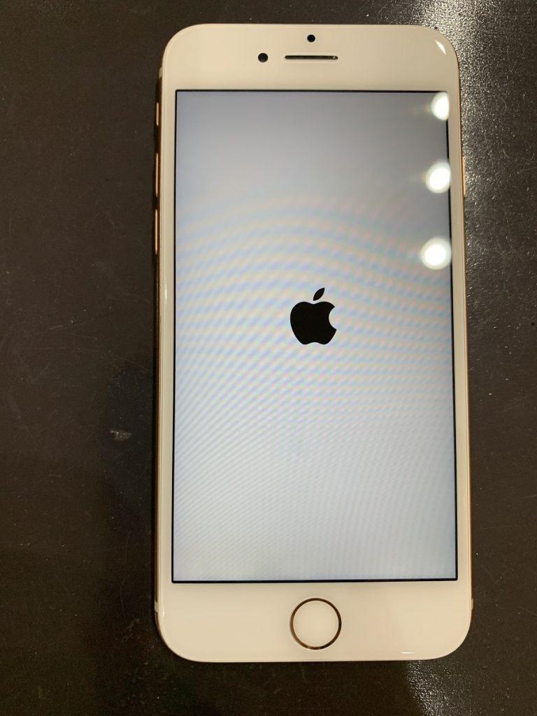 iPhone8 修理後 起動