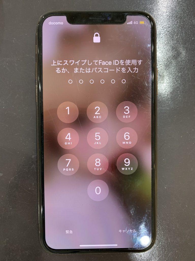 iPhoneXS ロック画面 映り確認
