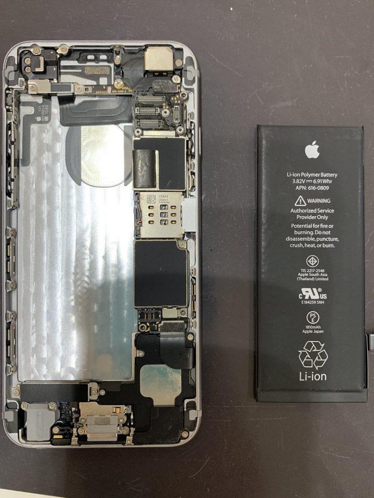 iPhone6 バッテリー 取り外し