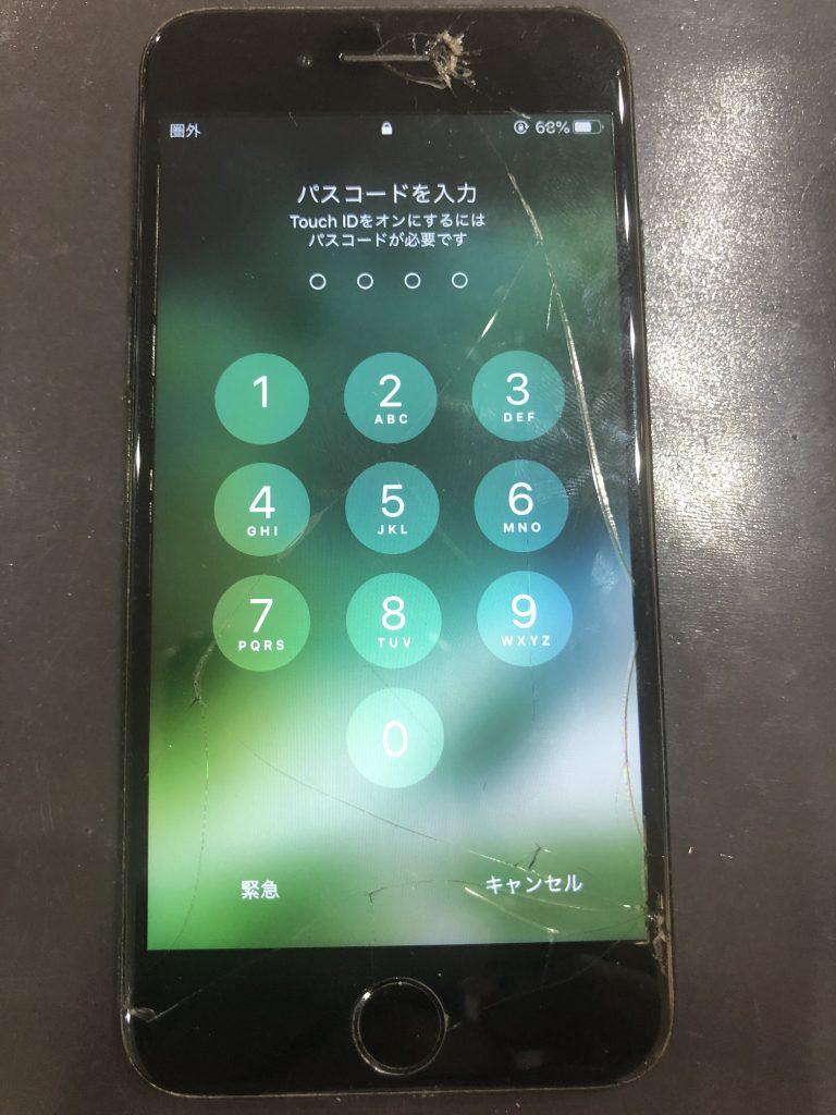 iPhone7 画面割れ修理前