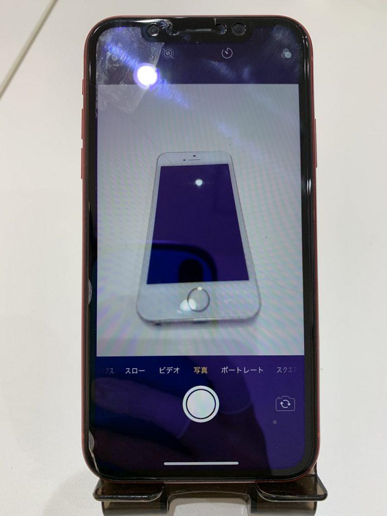 iPhoneXR バックカメラ修理 映る様になりました。