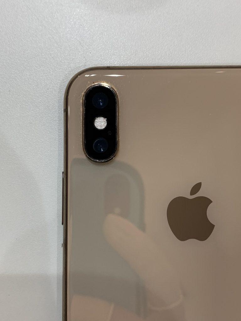 iPhoneXSMax カメラレンズ貼り換え カメラ取付け