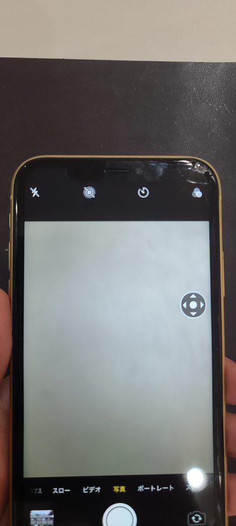 iPhoneXR カメラ映り 白くぼやけてる