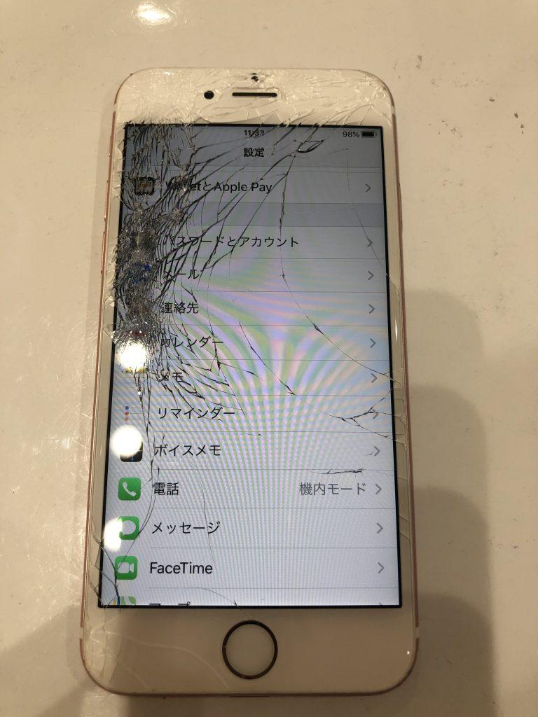 iPhone6s画面割れ修理前