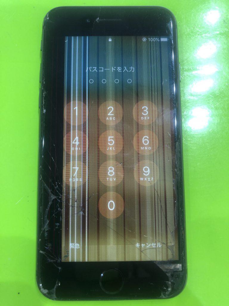 iPhone7画面表示不良 修理前