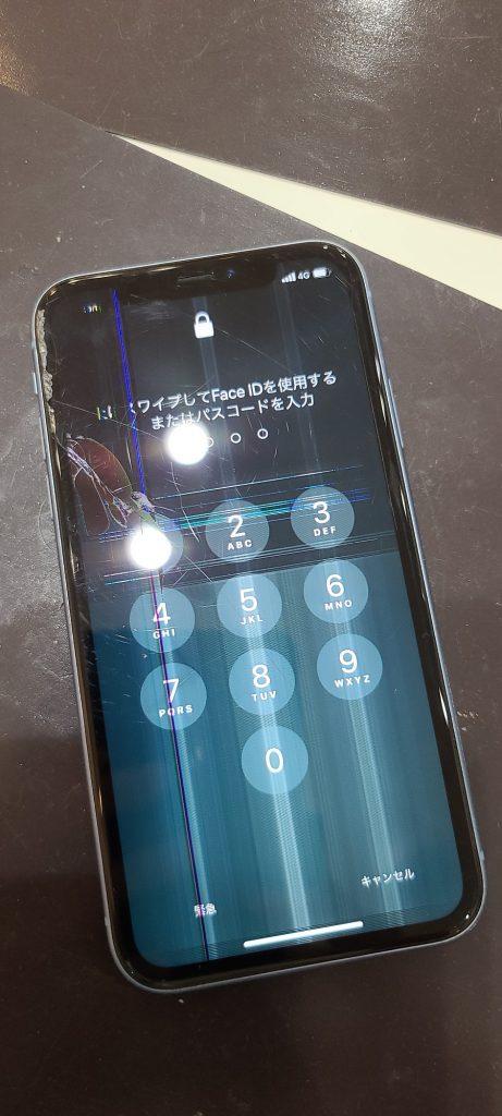 iPhoneXR 液晶画面修理前