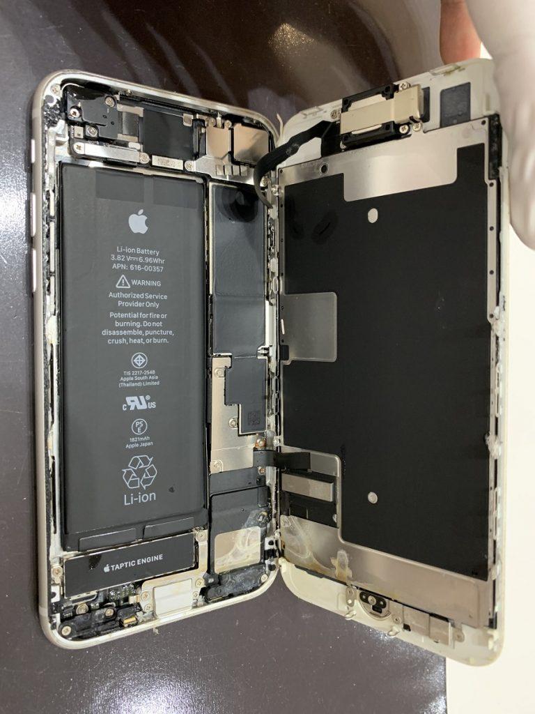 iPhone8 分解 海水濡れ