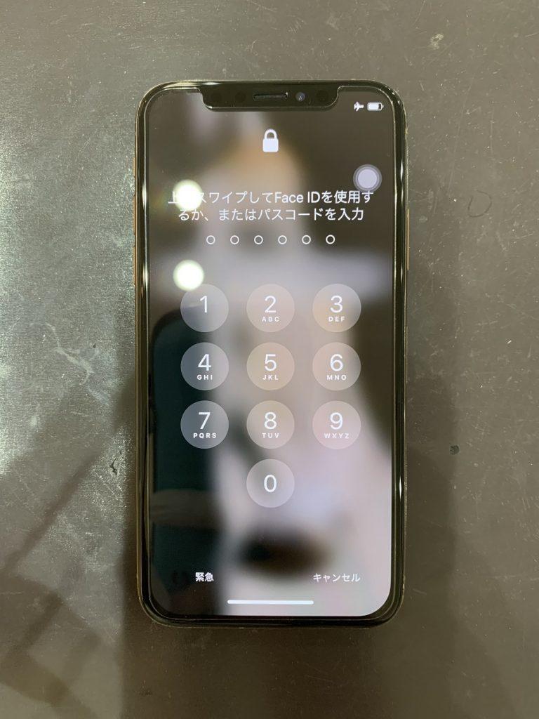 iPhoneXs 画面修理 状態改善