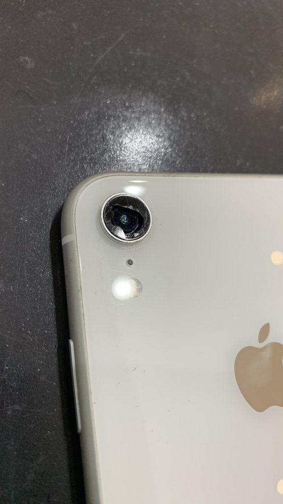 iPhoneXR カメラ レンズ割れ