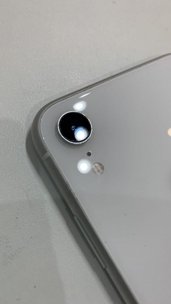 iPhoneXR カメラ交換 レンズ貼り換え後