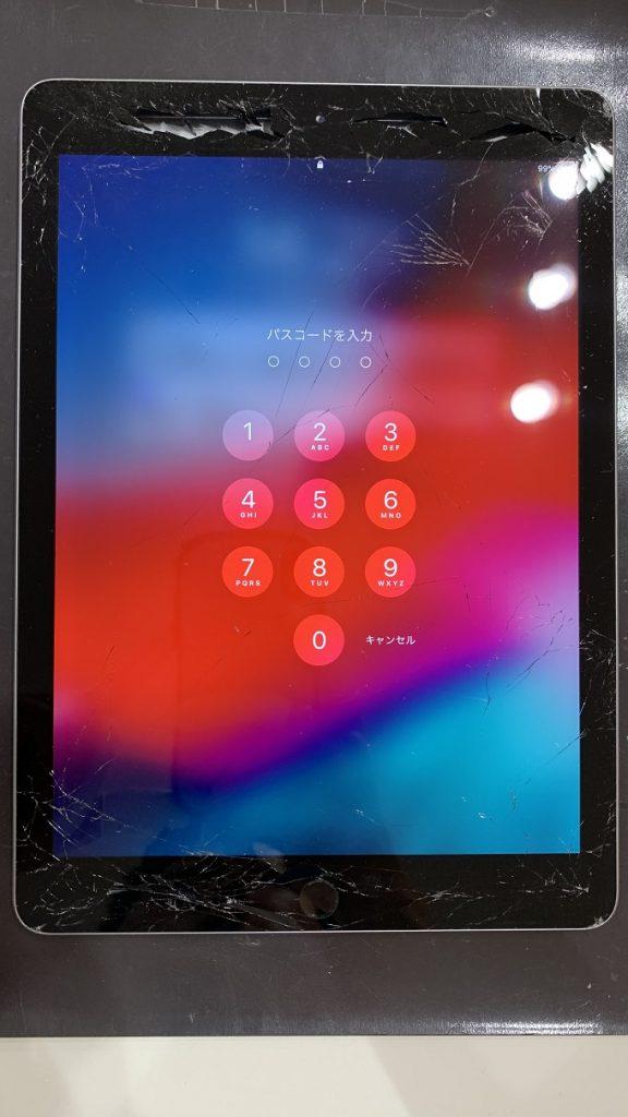 iPad6 全体確認 ガラス割れ