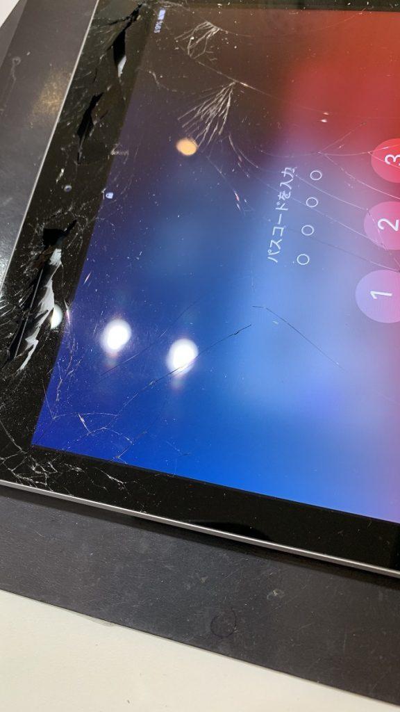 iPad6 画面上部 ガラス割れ