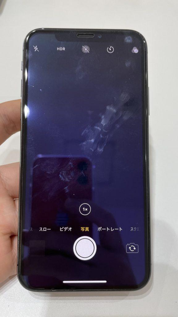 iPhoneX 広角カメラ 映らない