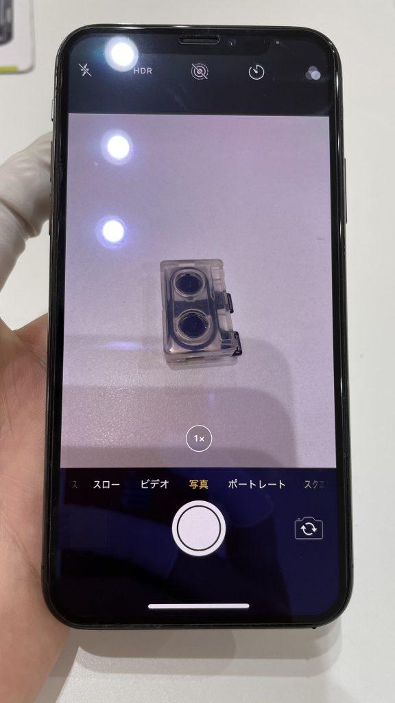 iPhoneX 修理後 広角カメラ 映る