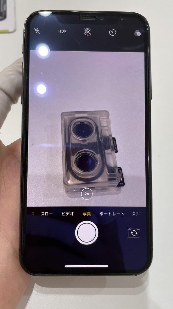 iPhoneX 修理後 望遠カメラ 映る ぼやけもない