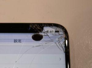 iPhoneX 液晶不良ノッチ割れ