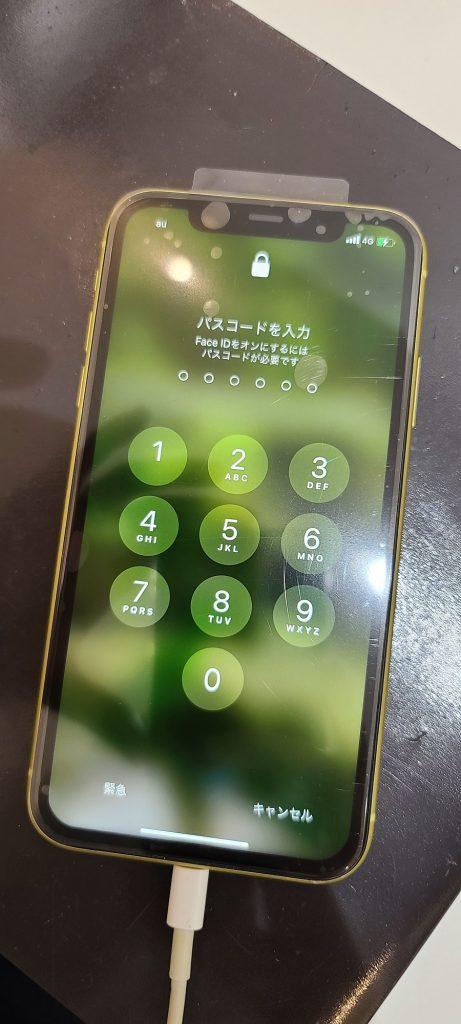 iPhoneXR 液晶画面交換修理後