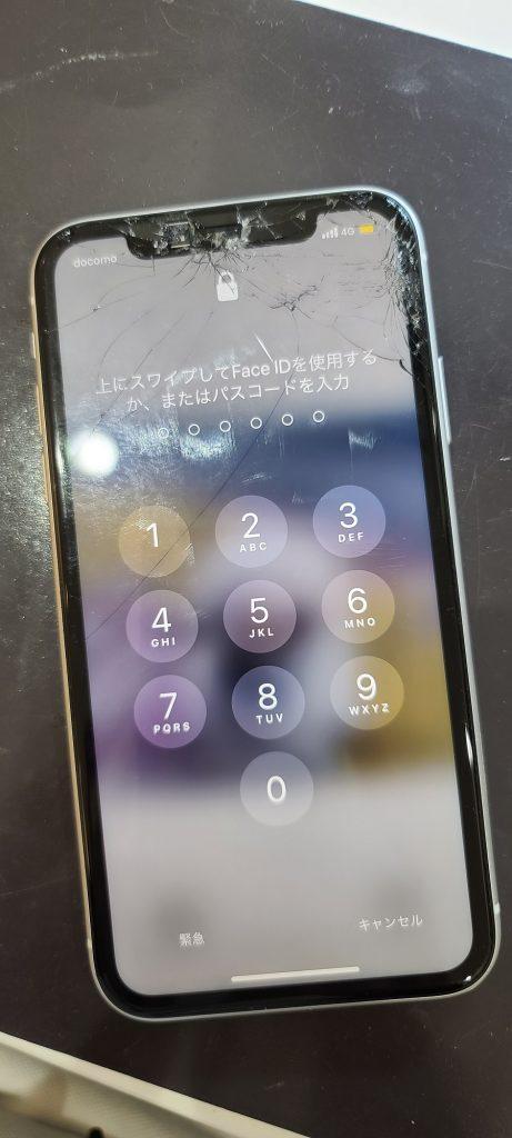 iPhoneXR 画面交換修理前