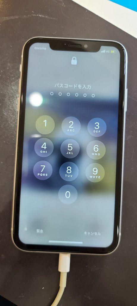 iPhoneXR 画面交換修理後