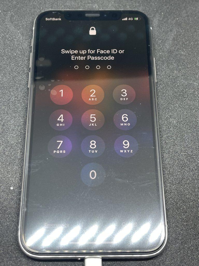 iPhoneXS 液晶不良交換後