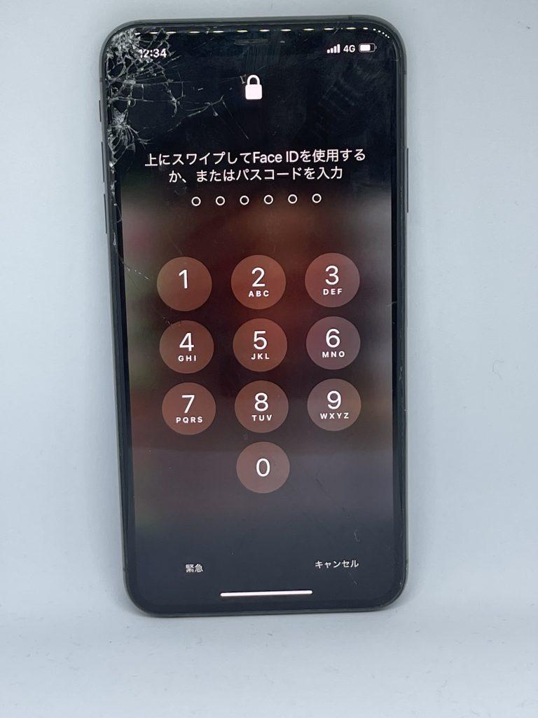 iPhoneXSMax 液晶交換修理前